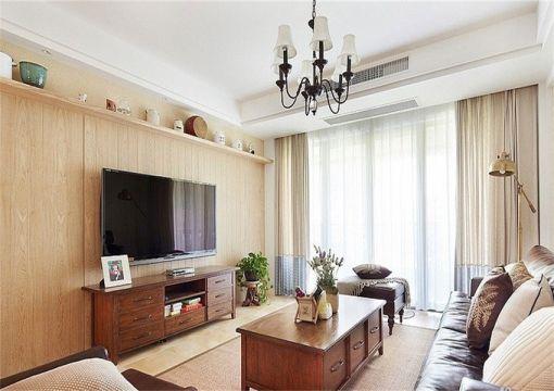 客厅电视柜混搭风格装饰图片