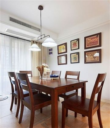 餐厅照片墙混搭风格装潢设计图片