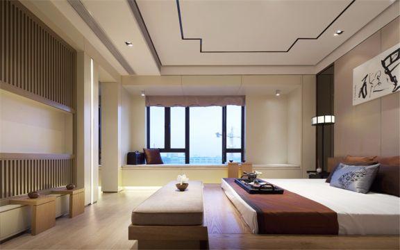 黄埔花园135平新中式三室两厅一卫装修效果图