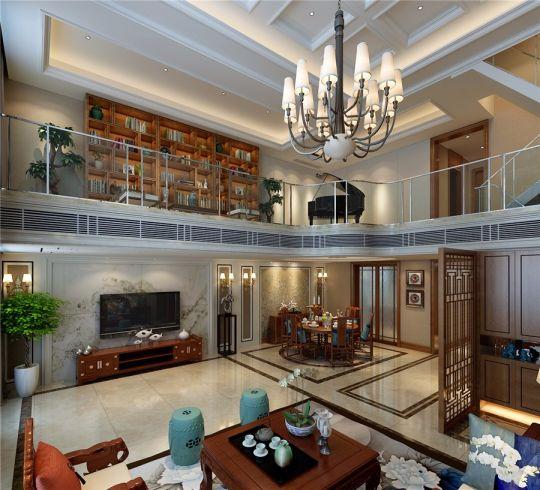 中式客厅电视柜装潢实景图
