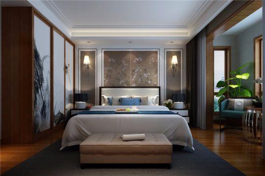 2018中式卧室装修设计图片 2018中式床装修效果图片