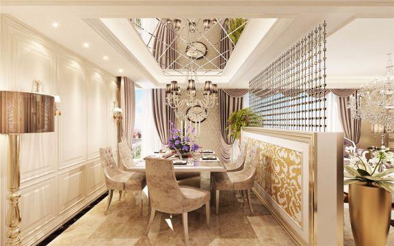 温馨餐厅吊顶室内效果图