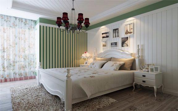 卧室白色照片墙简欧风格装修效果图