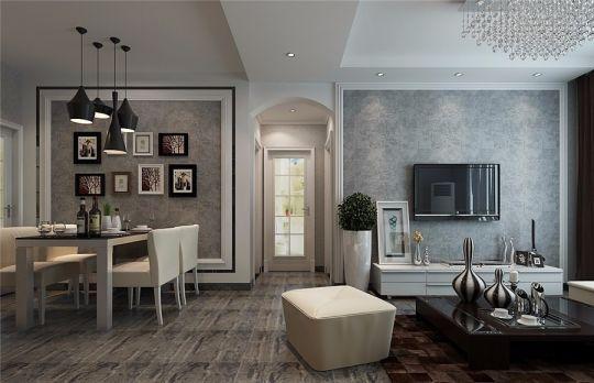 客厅白色电视柜现代风格装修效果图