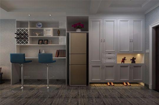 玄关白色鞋柜现代风格装潢效果图