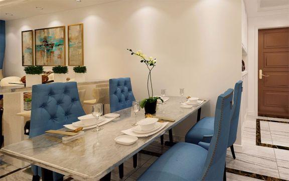 奢华大气灰色餐桌家装设计图