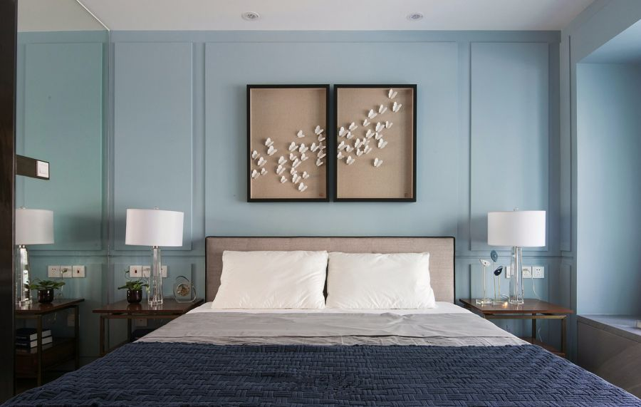 卧室咖啡色床现代简约风格装修图片