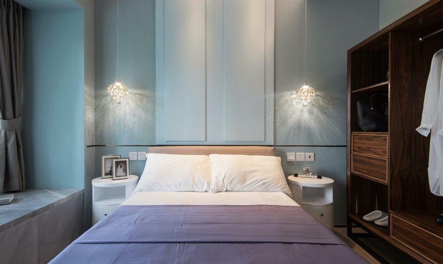 2018现代简约卧室装修设计图片 2018现代简约衣柜装修效果图片