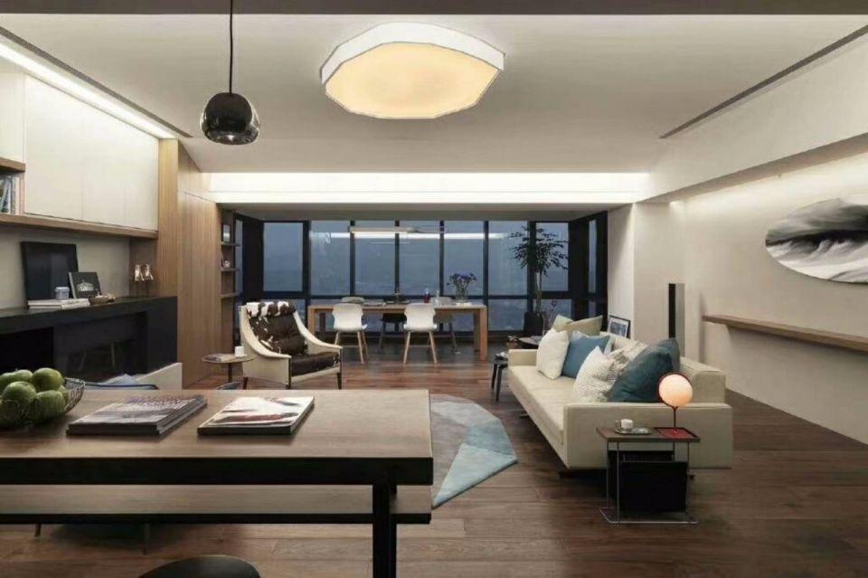 客厅白色沙发现代简约风格装饰图片