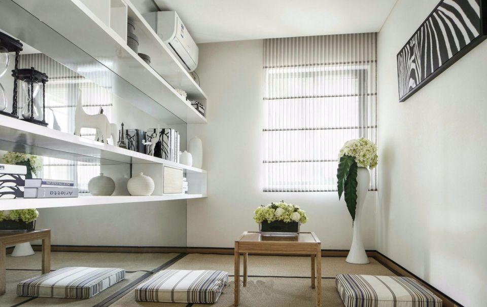 2019现代简约书房装修设计 2019现代简约窗帘设计图片