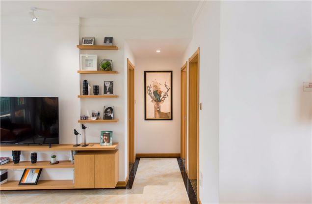 客厅白色走廊北欧风格装修效果图