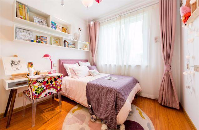 儿童房白色书桌北欧风格装潢设计图片