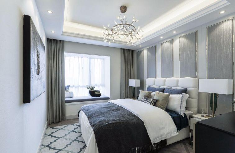 卧室白色床简欧风格装饰设计图片