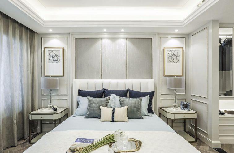 卧室白色床头柜简欧风格效果图