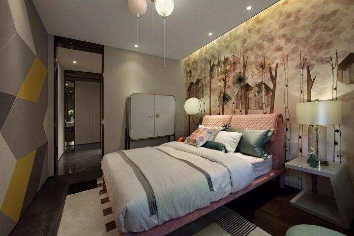 2019现代简约儿童房装饰设计 2019现代简约床装修效果图片