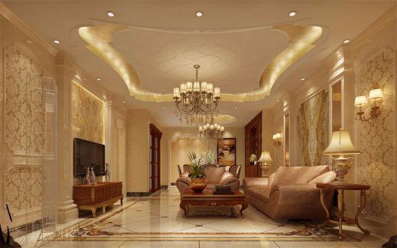 欧式风格150平米套房室内装修效果图