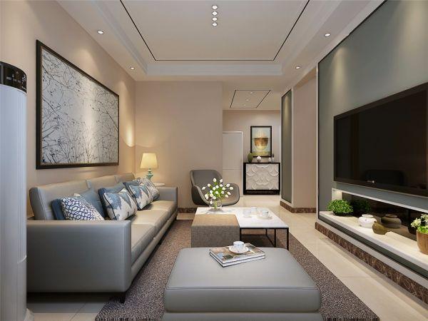 简约风格78平米两室两厅新房装修效果图