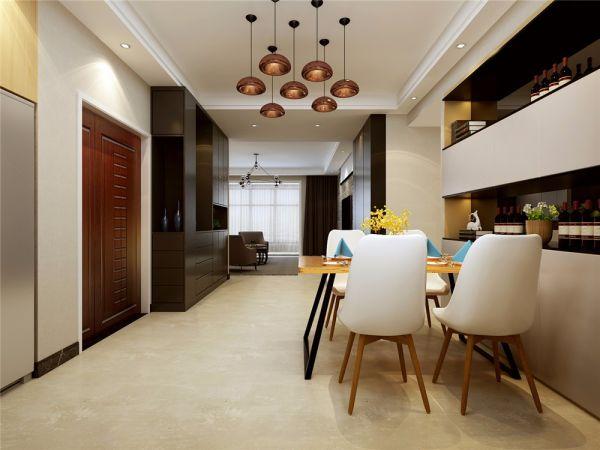 160㎡后现代风格四室装修效果图
