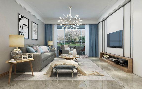 欧式风格110平米套房室内装修效果图