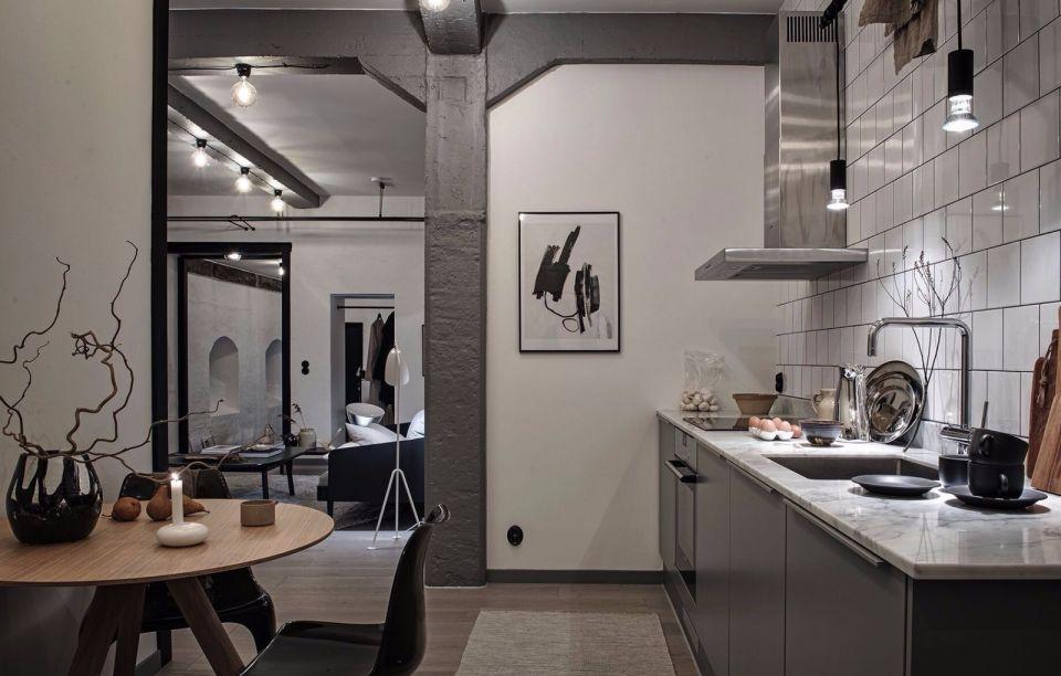 108㎡北欧风一室一厅室内装修效果图