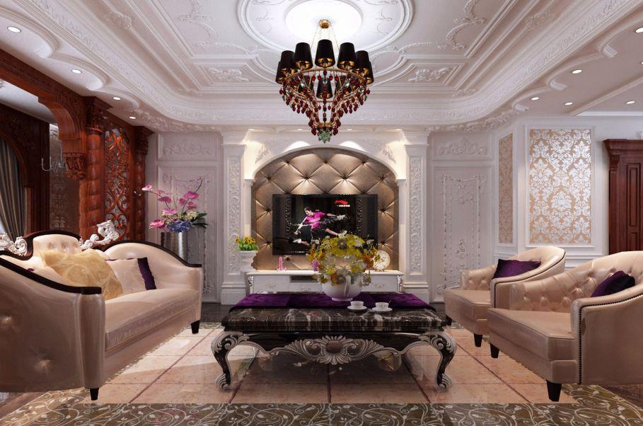 欧式风格170平米四室两厅新房装修效果图