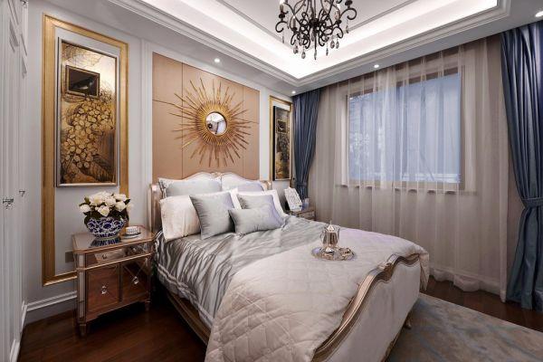 卧室床头柜古典效果图图片