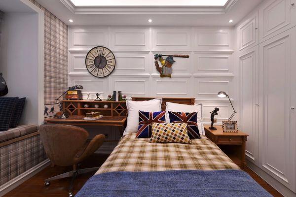 124平米古典三居室装修效果图