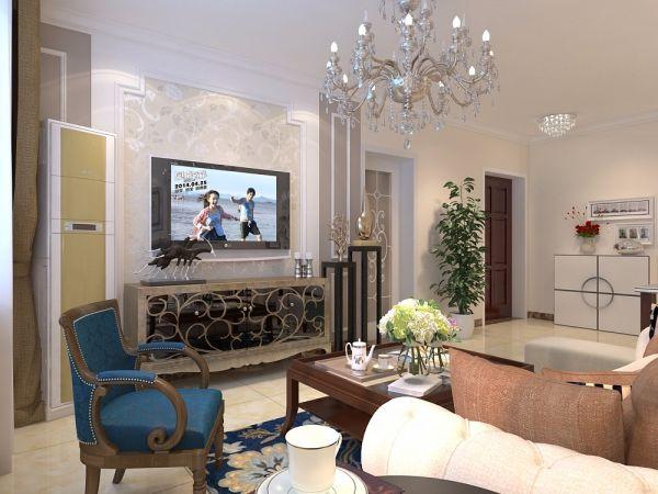 客厅茶几欧式商品房家装设计