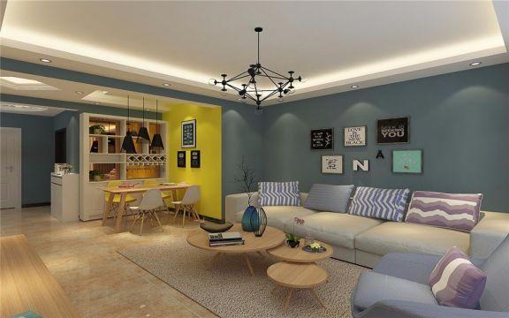 简约风格74平米两室两厅室内装修效果图