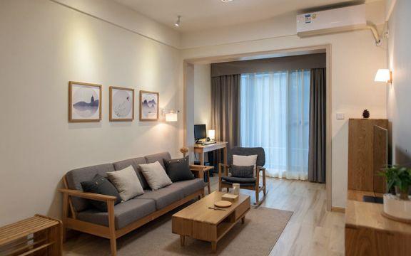 日式110平米套房装修效果图
