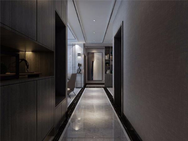 125㎡后现代风格三室装修效果图
