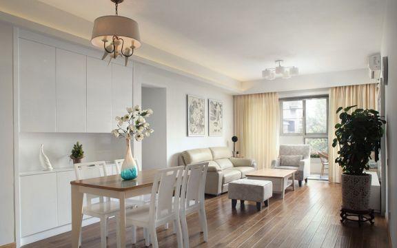 现代简约风格96平米套房室内装修效果图