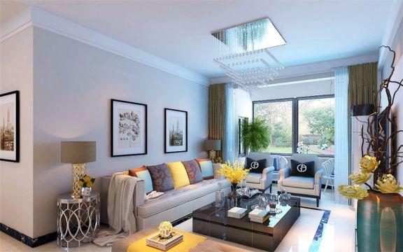 现代风格126平米楼房室内装修效果图