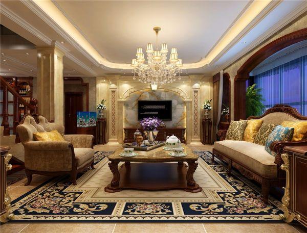 美式风格360平米别墅新房装修效果图