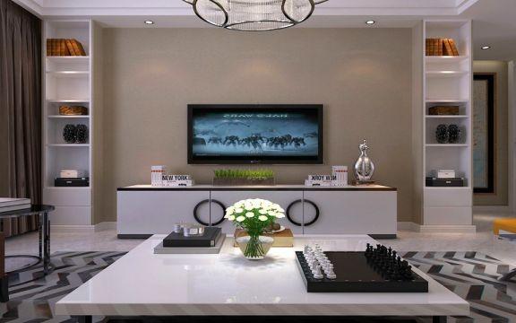 古都天玺一百四十平方新中式风格三居室装修效果图