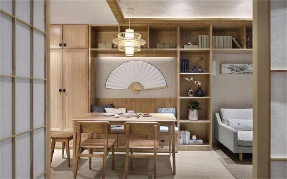 爱家798小区105平日式风格三居室装修效果图