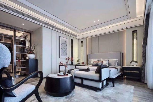 联发君悦华府140平三居室新中式风格效果图