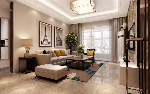 135平米新中式风格三室装修效果图