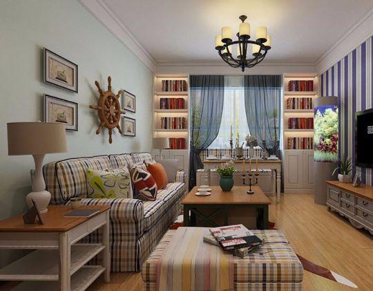 田园风格88平米两室两厅室内装修效果图