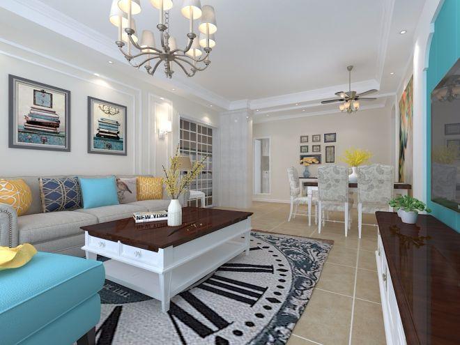 120平现代简约三居室装修效果图