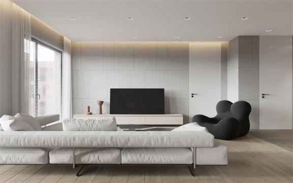 客厅窗帘北欧风格装饰效果图