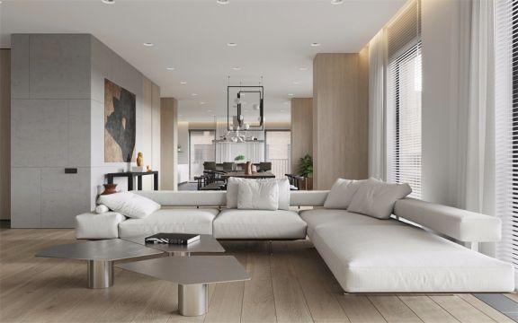 北欧风格125平米三室两厅新房装修效果图