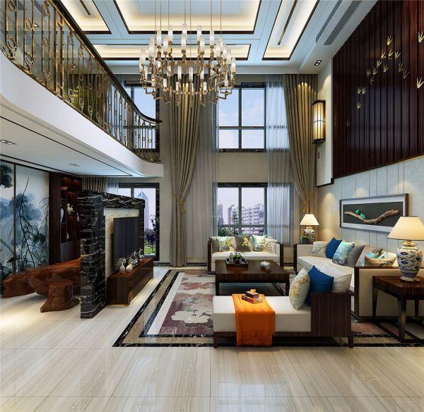 中式风格260平米别墅新房装修效果图