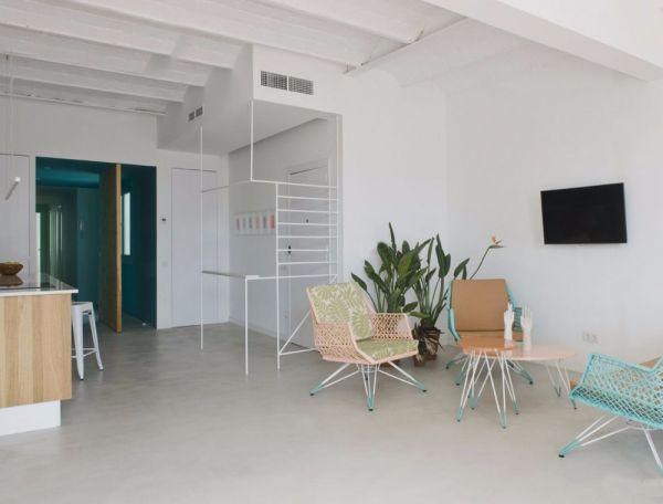 地中海风格三室两厅90平米装修效果图