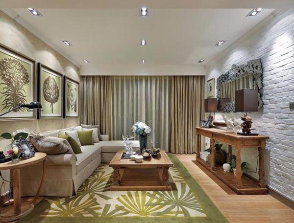 田园风格五室三厅367平米装修效果图