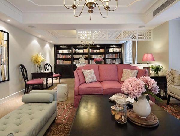美式风格三室两厅102平米装修效果图