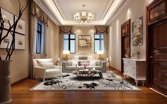 新中式风格300平米别墅新房装修效果图