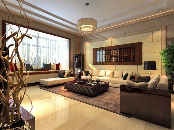新中式客厅飘窗设计图欣赏