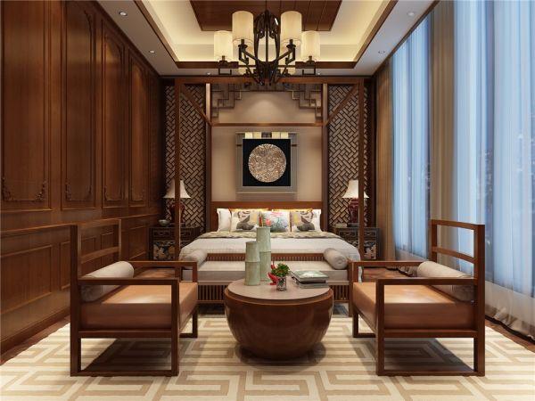 800㎡中式风格别墅装修效果图