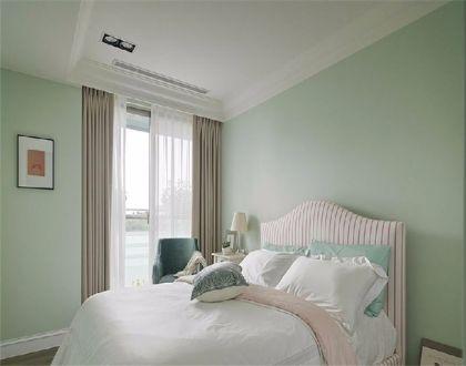 卧室咖啡色窗帘设计